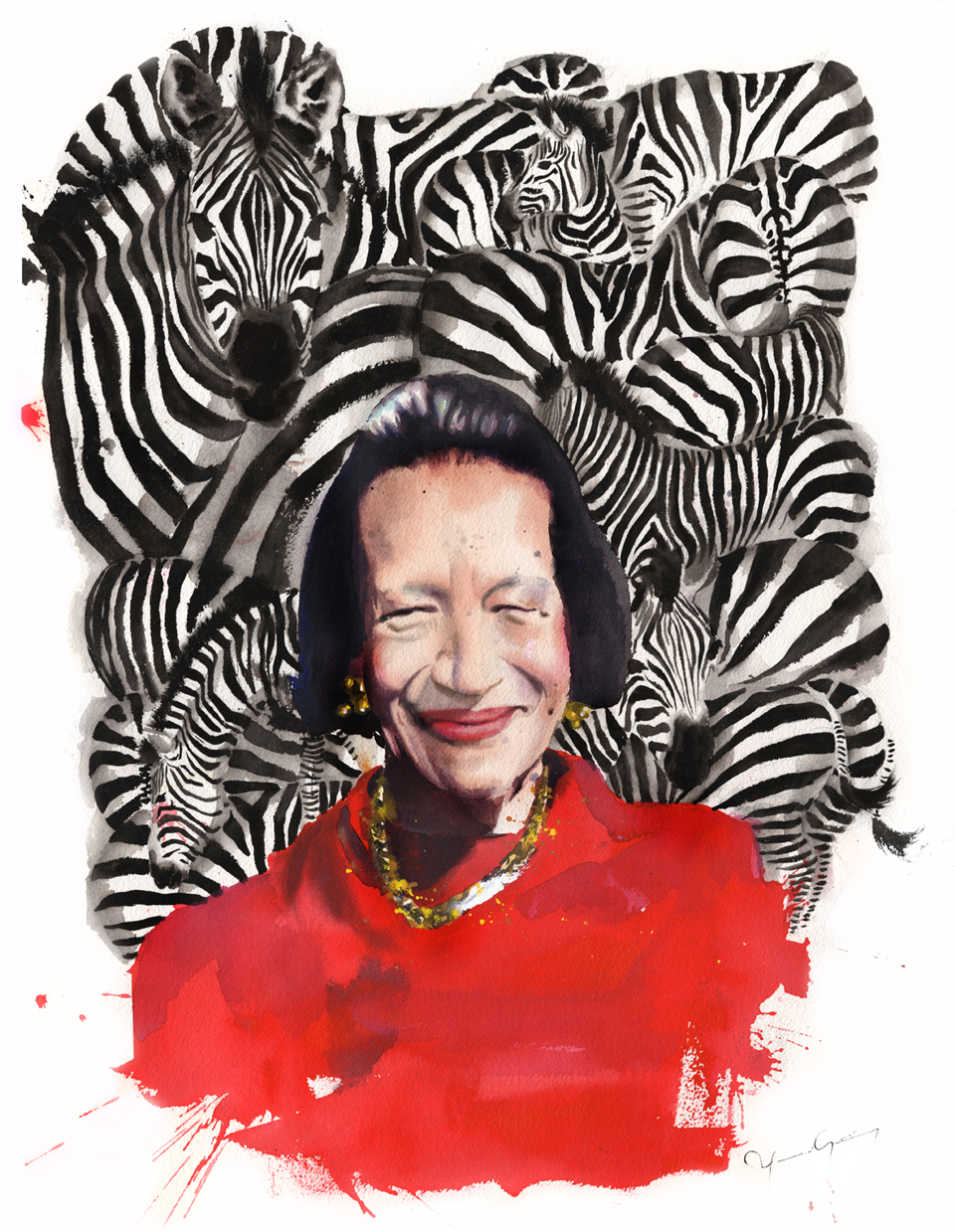 Marcela-Gutierrez-Diana-Vreeland-I'm-coming-for-the-Zebras