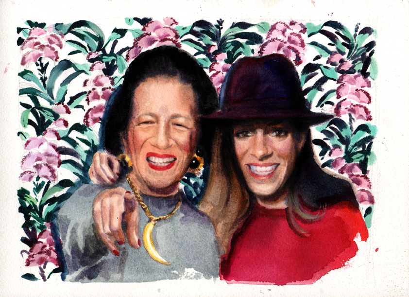 Marcela-Gutierrez-Diana-Vreeland-Selfie-with-Diana-at-Paul's-Baby-Grand